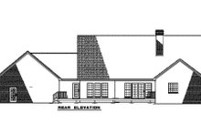 Architectural House Design - Country Exterior - Rear Elevation Plan #17-618