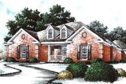 Traditional Style House Plan - 3 Beds 3 Baths 2696 Sq/Ft Plan #37-183 Exterior - Front Elevation
