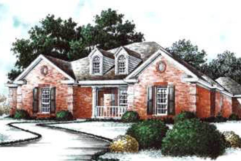 Traditional Exterior - Front Elevation Plan #37-183 - Houseplans.com