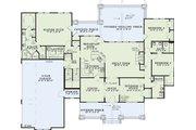 Craftsman Style House Plan - 7 Beds 5.5 Baths 4693 Sq/Ft Plan #17-2376 Floor Plan - Main Floor Plan