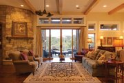 Ranch Style House Plan - 4 Beds 3.5 Baths 3258 Sq/Ft Plan #935-6 Interior - Family Room