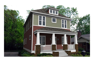 Southern style Bungalow house design elevation