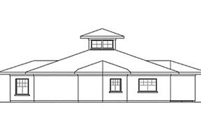 Ranch Exterior - Rear Elevation Plan #124-864 - Houseplans.com