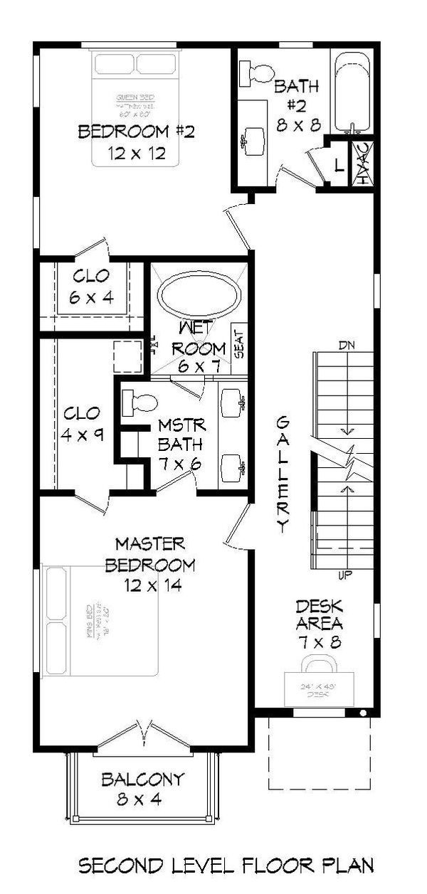 House Plan Design - Contemporary Floor Plan - Upper Floor Plan #932-319
