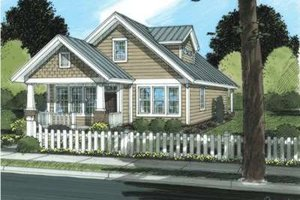 Craftsman Exterior - Front Elevation Plan #20-1881