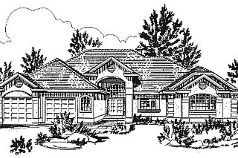 House Blueprint - European Exterior - Front Elevation Plan #18-171