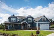 Contemporary Style House Plan - 3 Beds 2.5 Baths 2531 Sq/Ft Plan #1070-82 Exterior - Front Elevation