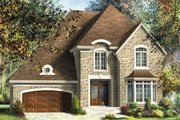 European Style House Plan - 3 Beds 2.5 Baths 2535 Sq/Ft Plan #25-4141 Exterior - Front Elevation