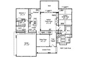 Traditional Style House Plan - 4 Beds 3 Baths 2855 Sq/Ft Plan #927-26 Floor Plan - Main Floor Plan