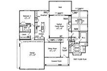 Traditional Floor Plan - Main Floor Plan Plan #927-26