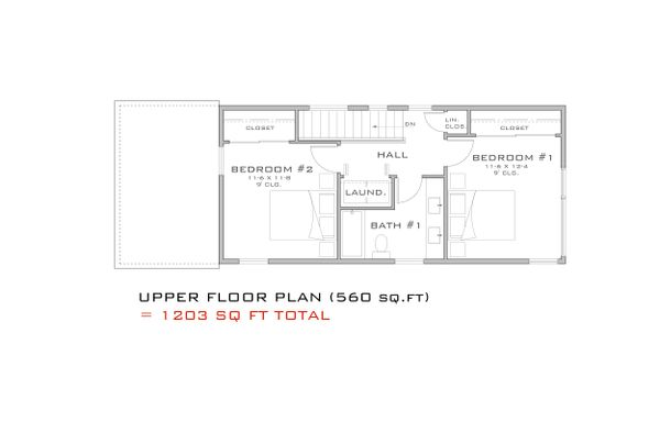 Modern Floor Plan - Upper Floor Plan Plan #909-3