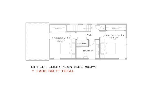 Modern Floor Plan - Upper Floor Plan #909-3