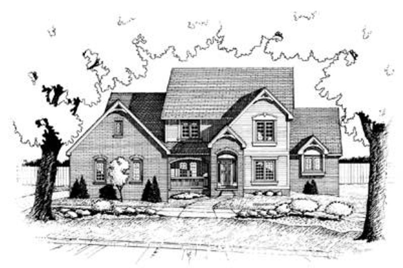 Traditional Exterior - Front Elevation Plan #20-998