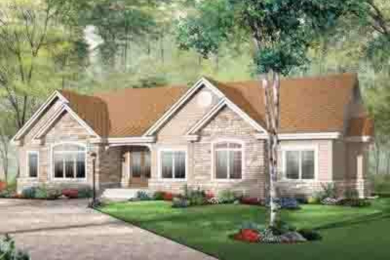 European Exterior - Front Elevation Plan #23-646 - Houseplans.com
