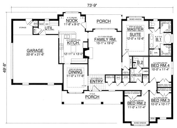 Traditional Floor Plan - Main Floor Plan Plan #40-378