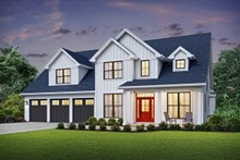 Home Plan - Farmhouse Exterior - Front Elevation Plan #48-982