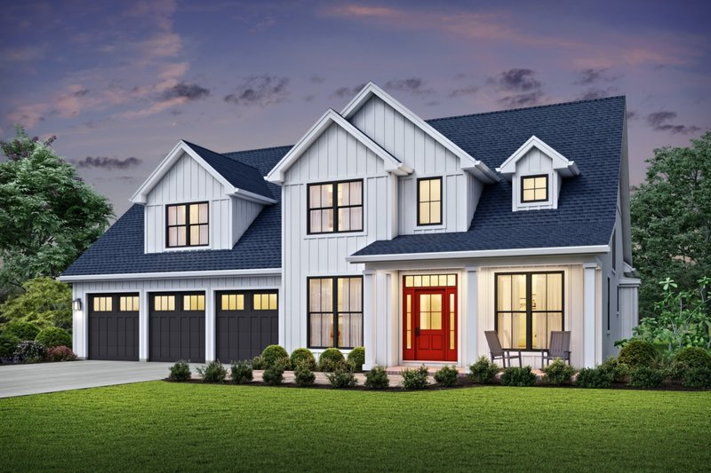 Dream House Plan - Farmhouse Exterior - Front Elevation Plan #48-982
