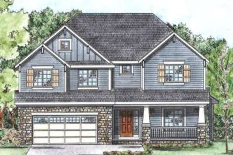 Bungalow Exterior - Front Elevation Plan #20-1712