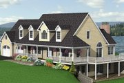 Country Style House Plan - 3 Beds 2.5 Baths 2916 Sq/Ft Plan #75-177 Exterior - Other Elevation