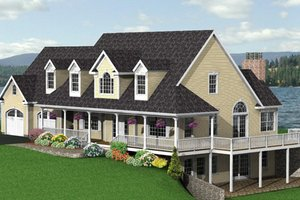 Country Exterior - Other Elevation Plan #75-177