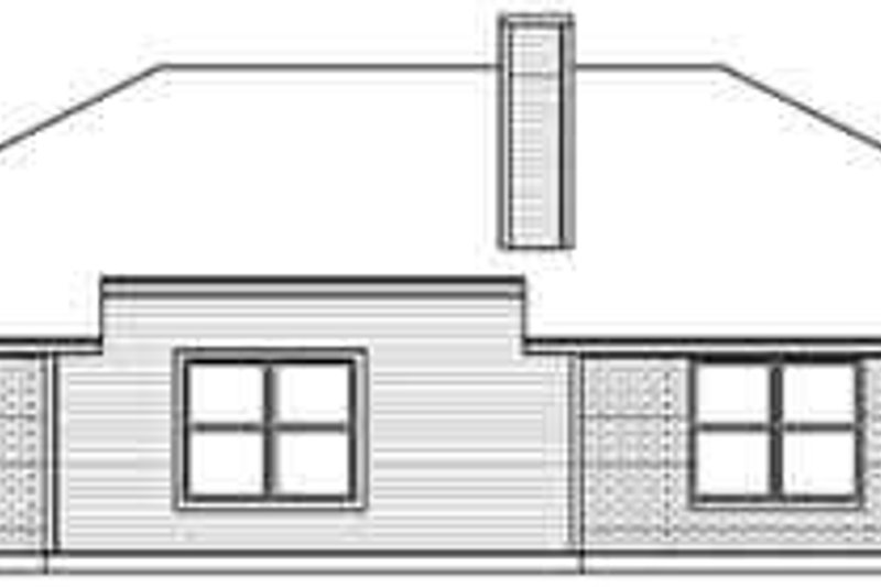 Traditional Exterior - Rear Elevation Plan #84-203 - Houseplans.com