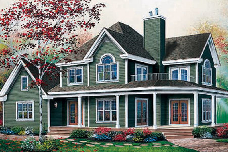 Farmhouse Exterior - Front Elevation Plan #23-519 - Houseplans.com