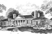 Colonial Style House Plan - 4 Beds 3.5 Baths 3462 Sq/Ft Plan #72-207 Exterior - Front Elevation