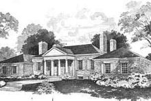 Home Plan - Colonial Exterior - Front Elevation Plan #72-207