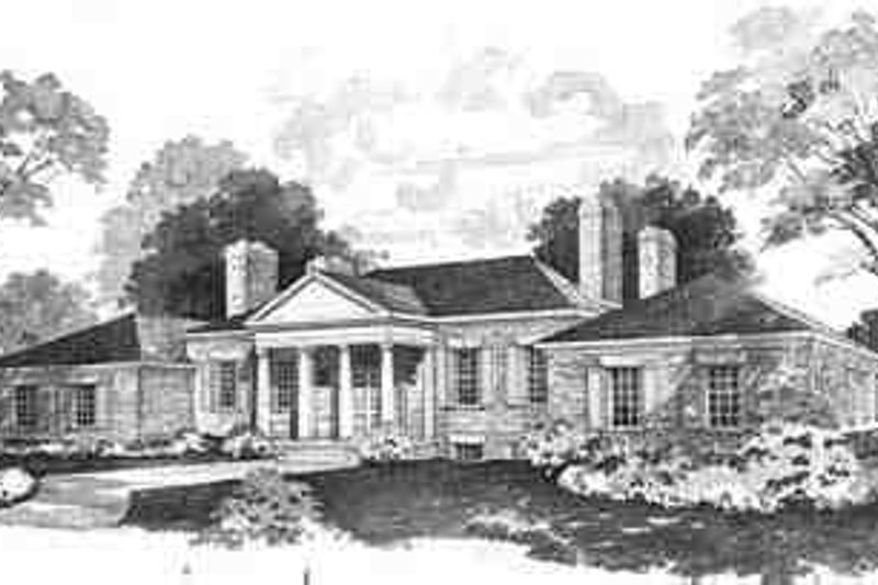 House Blueprint - Colonial Exterior - Front Elevation Plan #72-207