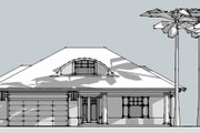 Beach Style House Plan - 3 Beds 2.5 Baths 2135 Sq/Ft Plan #481-4 Exterior - Other Elevation