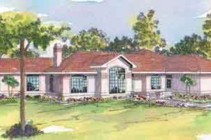 Mediterranean Exterior - Front Elevation Plan #124-427