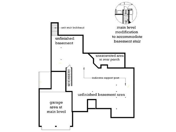 Traditional Floor Plan - Lower Floor Plan Plan #45-129