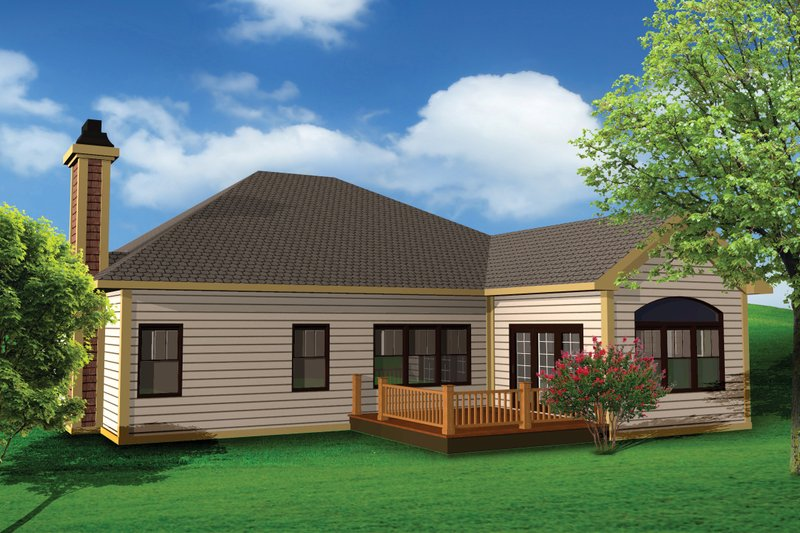 Craftsman Exterior - Rear Elevation Plan #70-1072 - Houseplans.com