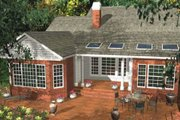 Southern Style House Plan - 4 Beds 3 Baths 2863 Sq/Ft Plan #406-282 Exterior - Rear Elevation