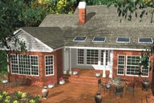 Southern Exterior - Rear Elevation Plan #406-282