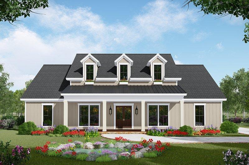 Dream House Plan - Farmhouse Exterior - Front Elevation Plan #21-443