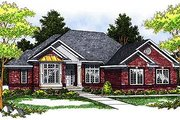 Traditional Style House Plan - 4 Beds 2.5 Baths 3193 Sq/Ft Plan #70-247 Exterior - Front Elevation