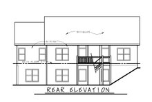 House Plan Design - Traditional Exterior - Rear Elevation Plan #20-2404
