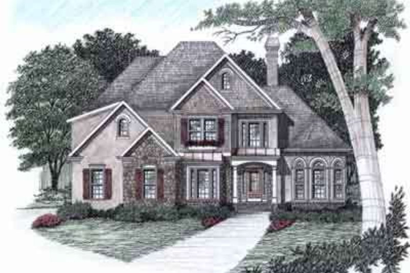 Traditional Exterior - Front Elevation Plan #129-125 - Houseplans.com