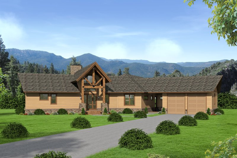 Dream House Plan - Cabin Exterior - Front Elevation Plan #932-288