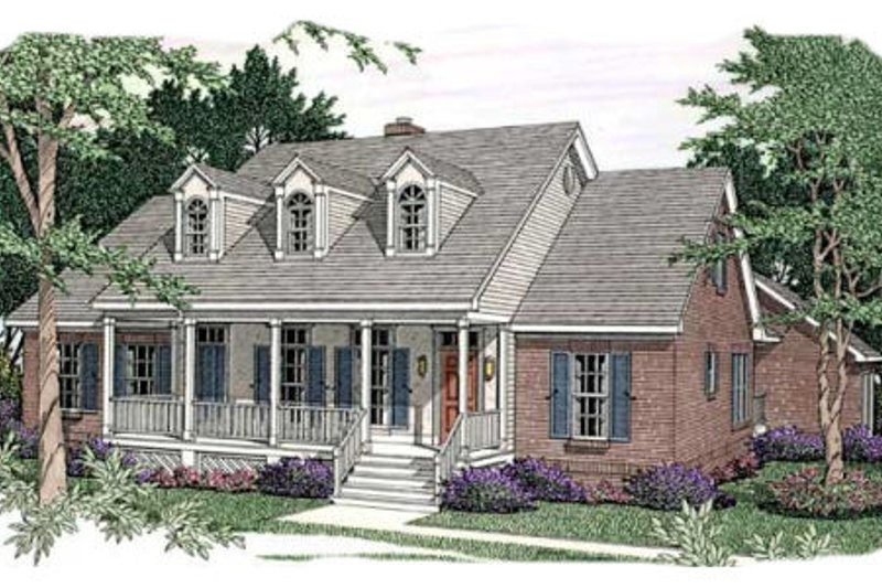 Southern Exterior - Front Elevation Plan #406-160 - Houseplans.com
