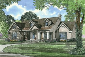 Traditional Exterior - Front Elevation Plan #17-1020
