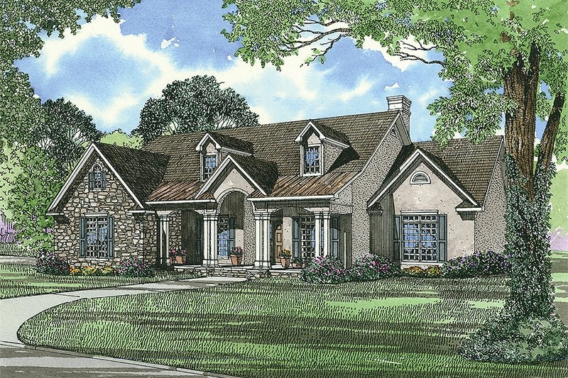 House Design - Traditional Exterior - Front Elevation Plan #17-1020