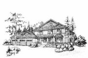 Traditional Style House Plan - 3 Beds 2.5 Baths 2223 Sq/Ft Plan #78-129 Exterior - Front Elevation