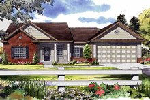 House Plan Design - Ranch Exterior - Front Elevation Plan #21-144