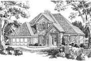 European Style House Plan - 3 Beds 2.5 Baths 1860 Sq/Ft Plan #310-146 Exterior - Front Elevation
