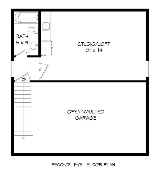 Contemporary Floor Plan - Upper Floor Plan Plan #932-226