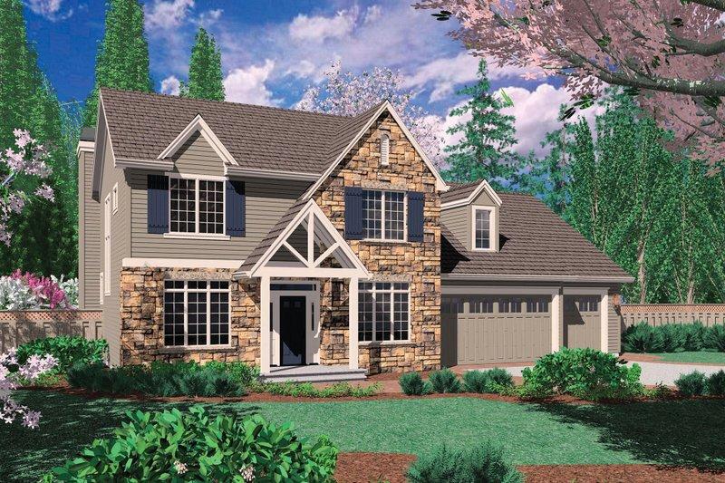 Dream House Plan - Craftsman Exterior - Front Elevation Plan #48-392