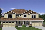 Traditional Style House Plan - 3 Beds 2.5 Baths 3286 Sq/Ft Plan #116-285 Exterior - Front Elevation
