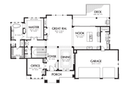Prairie Style House Plan - 3 Beds 2.5 Baths 3528 Sq/Ft Plan #48-700 Floor Plan - Main Floor Plan